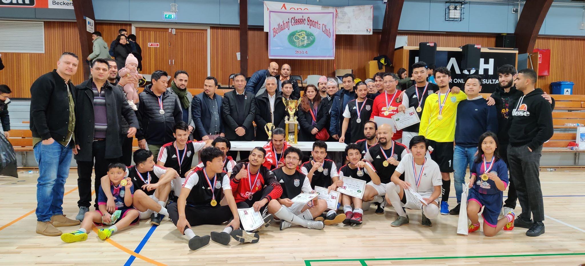 डेनमार्कमा नेपालीबीच फुटसल प्रतियोगिता सम्पन्न