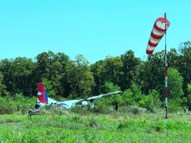 सङ्कलित नमूना लिन गएकाे नेपाल एयरलाइन्सकाे विमान दुर्घटनाः सबै सकुशल