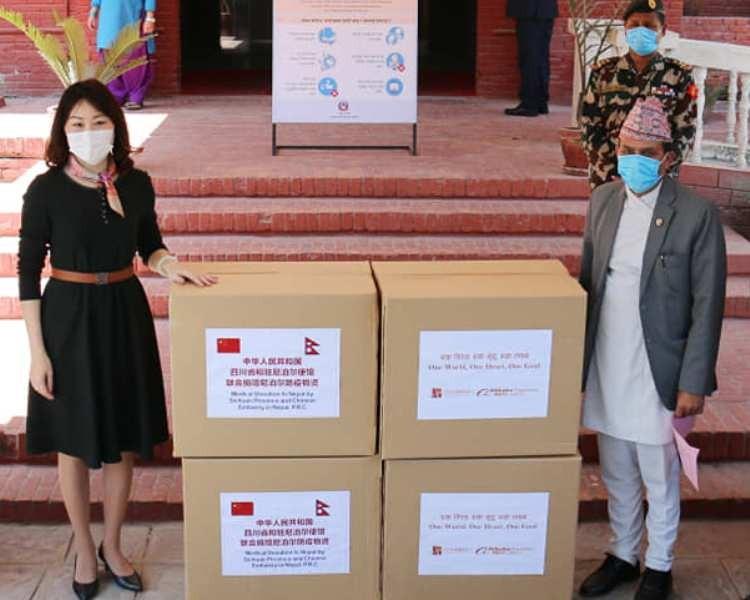 चीनबाट प्राप्त स्वास्थ्य सामग्री सरकारलाई हस्तान्तरण