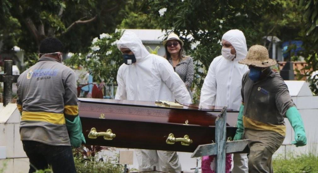 ब्राजिलमा  एकै दिन ६०० जनाकाे मृत्यु