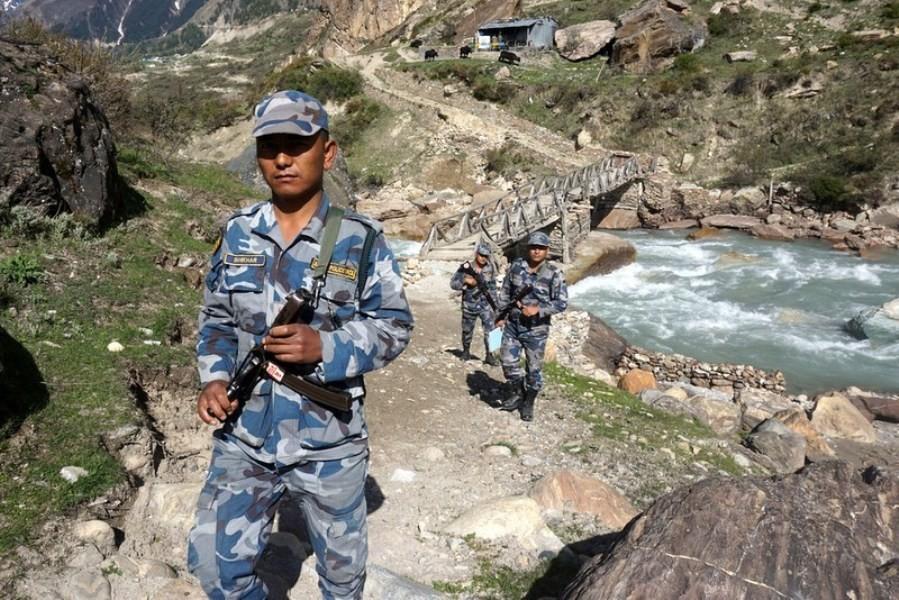 कालापानीकाे सीमा क्षेत्रमा शसस्त्र प्रहरीले थाल्याे गस्ती