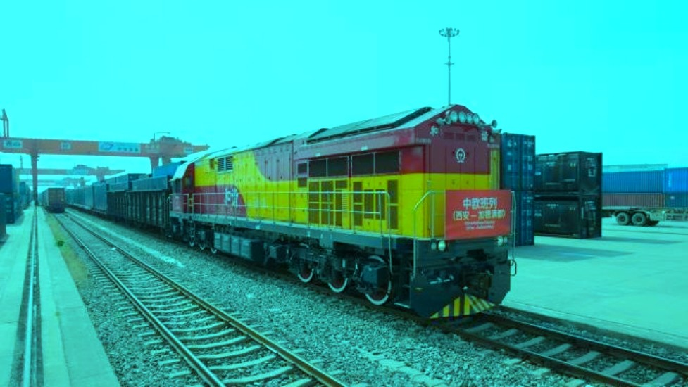 चीनकाे सिआनबाट कार्गाे रेल काठमाडौं प्रस्थान