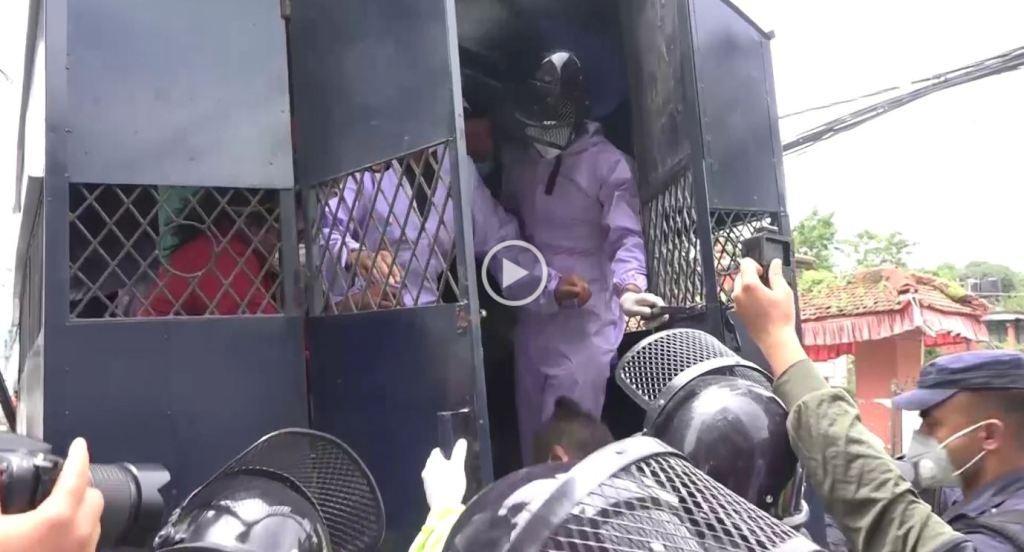 सरकारकाे विरूद्ध प्रदर्शनमा उत्रिएकालाई  भाटभटेनी क्षेत्रबाट गिरफ्तार
