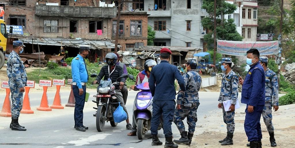 आजदेखि काठमाडौं उपत्यका प्रवेश गर्न र बाहिर जान  रोक