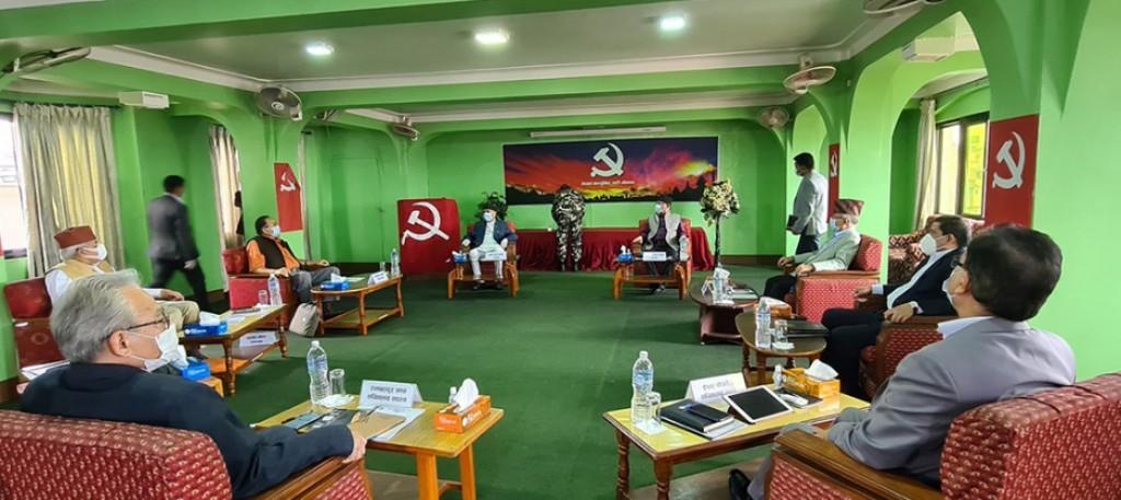 नेकपा सचिवालय बैठक स्थगित,भाेलिकाे बैठक बालुवाटारमा बस्ने