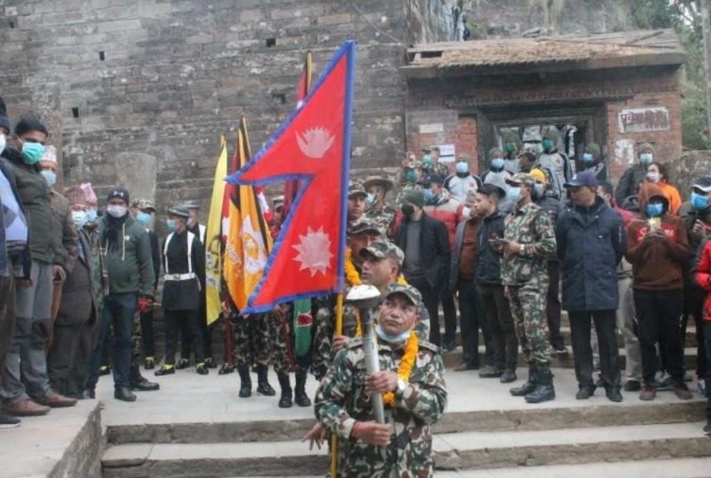 नेपाली सेनाकाेएकीकरण पदयात्रा शुरू