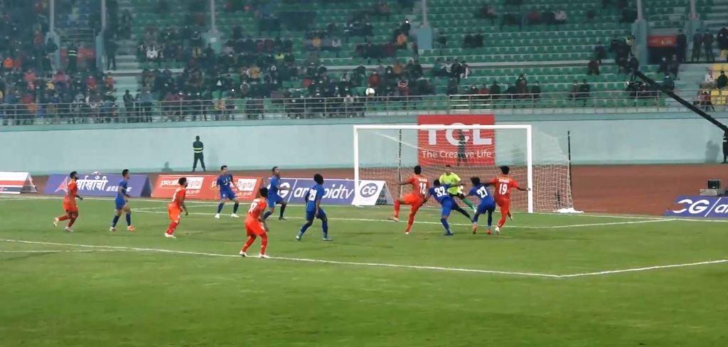 बंगलादेशसँग गोलरहित बराबरी खेल्दै नेपाल फाइनलमा प्रवेश