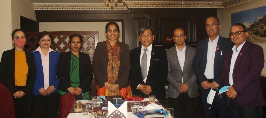 महासंघ प्रतिनिधिमण्डल र श्रीलंकका राजदूतबीच भेट