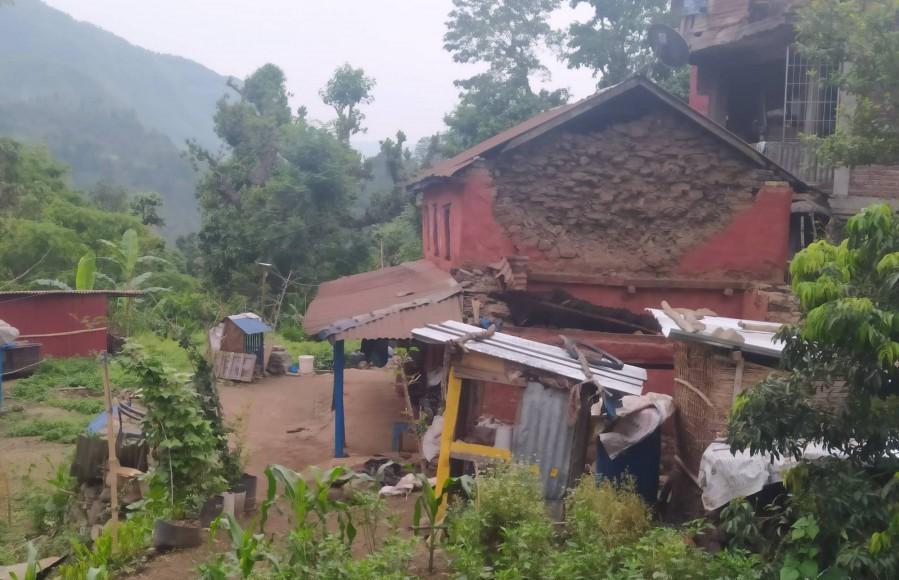 लमजुङमा २४ घण्टामा ८६ पटक भूकम्पको धक्का