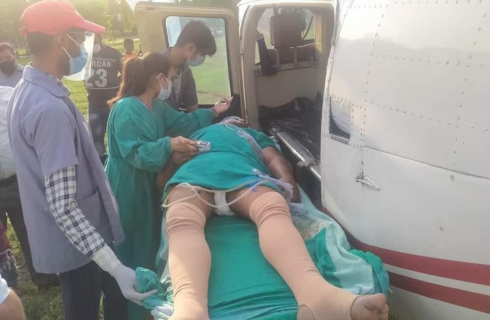 गोली प्रहारबाट घाइते माओवादी कपिलवस्तुका नेता पाण्डेलाई थप उपचारका लागि काठमाडौं पठाइयो