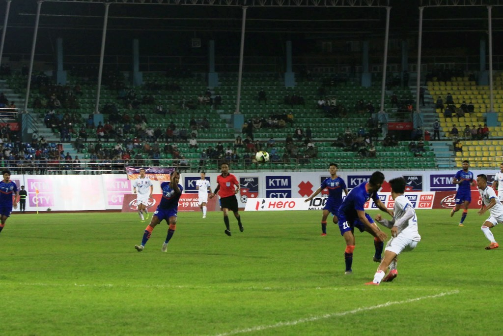 मैत्रीपूर्ण फुटबलको दोस्रो खेलमा नेपाल भारतसँग पराजित