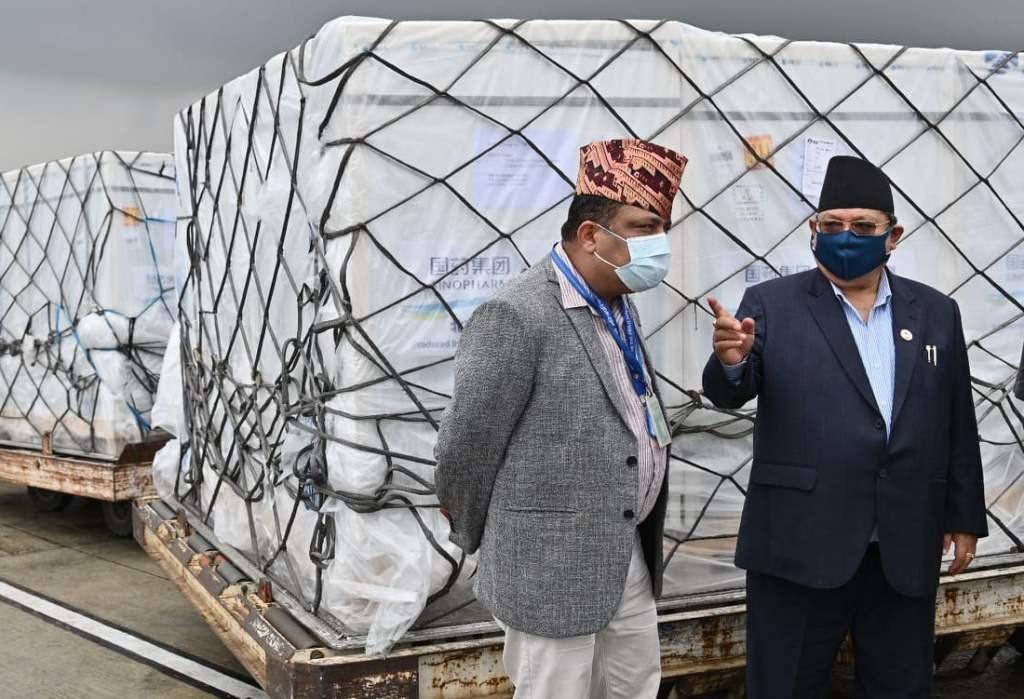 चीनबाट खरिद गरिएको ४४ लाख 'भेरोसेल खोप काठमाडौं आइपुग्यो